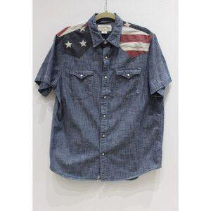 Ralph Lauren Men's Large USA Flag Western shirt